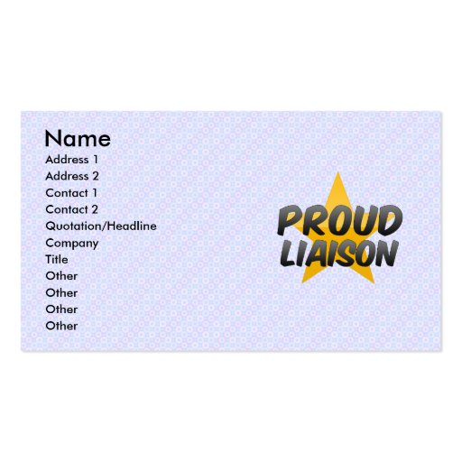 Proud Liaison Double-Sided Standard Business Cards (Pack Of 100)