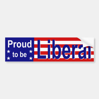 Proud Liberal 1 Bumper Sticker