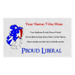 Proud Liberal Business Cards