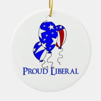 Proud Liberal Ceramic Ornament