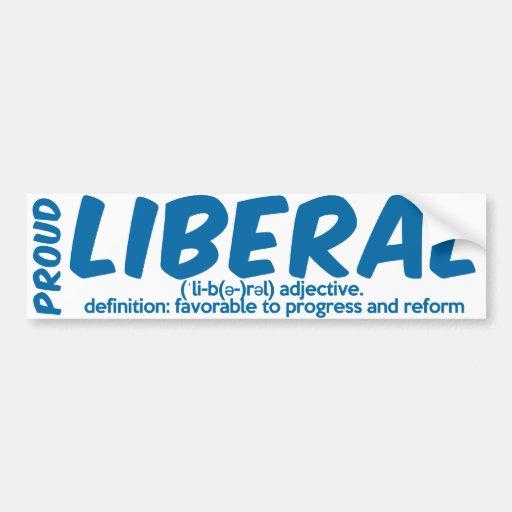 Proud Liberal Definition Bumper Sticker Zazzle