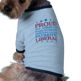 proud liberal doggie t shirt