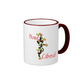 Proud Liberal Ringer Coffee Mug