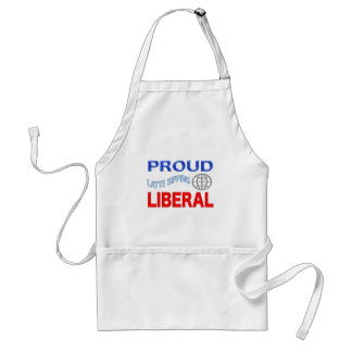 Proud Liberal! Personalize Background. Adult Apron