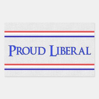 Proud Liberal Rectangular Sticker