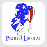 Proud Liberal Square Stickers