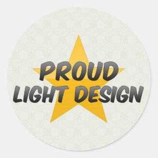 Proud Light Design Classic Round Sticker