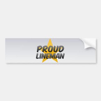 Proud Lineman Car Bumper Sticker