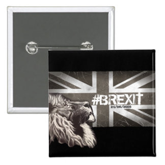 Proud Lion #Brexit Commemorative Art Pinback Button