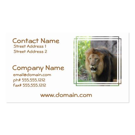 Proud Lion Business Cards