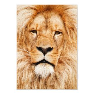 Proud Lion Portrait Card