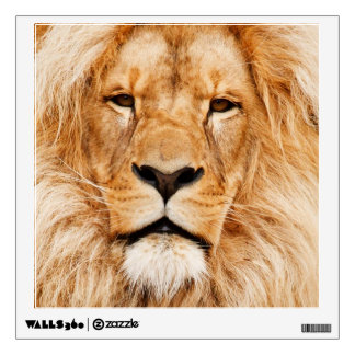 Proud Lion Portrait Wall Sticker
