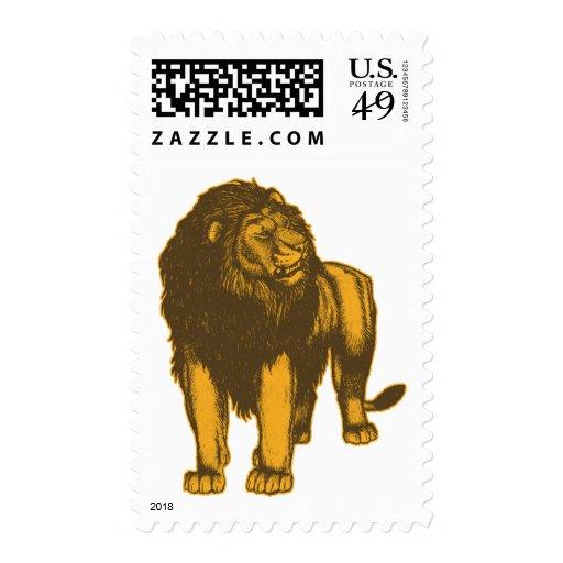 Proud  Lion Postage Stamp