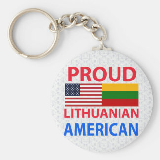 Proud Lithuanian American Keychain