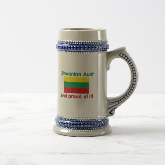 Proud Lithuanian Aunt Beer Stein