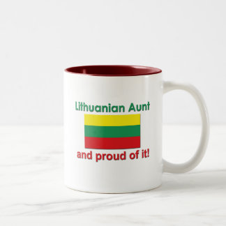 Proud Lithuanian Aunt Two-Tone Coffee Mug