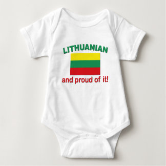 Proud Lithuanian Baby Bodysuit