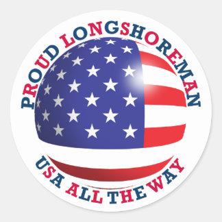 Proud Longshoreman Round Sticker