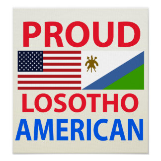 Proud Losotho American Poster