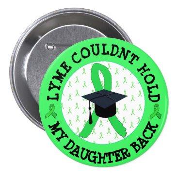 Beach Themed Proud Lyme Graduation Button