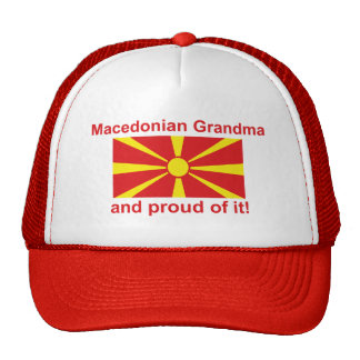 Proud Macedonian Grandma Trucker Hat