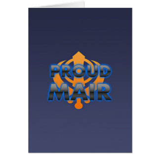 Proud Mair, Mair pride Card