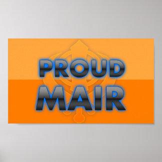 Proud Mair, Mair pride Posters