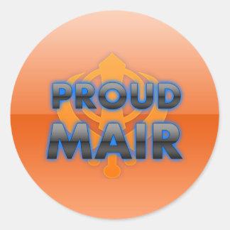 Proud Mair, Mair pride Round Stickers