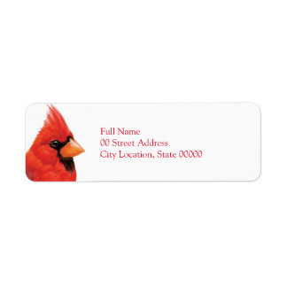 Proud Male Cardinal Label