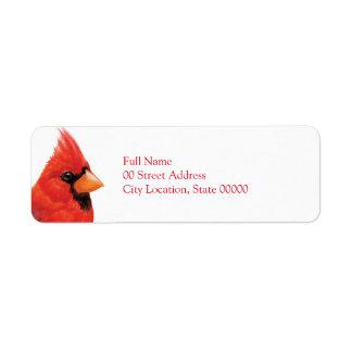 Proud Male Cardinal Label