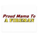 Proud Mama To A Fireman Postcard