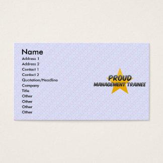 Proud Management Trainee Business Card