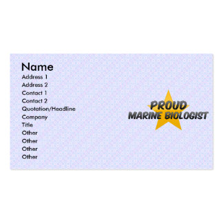 Proud Marine Biologist Double-Sided Standard Business Cards (Pack Of 100)