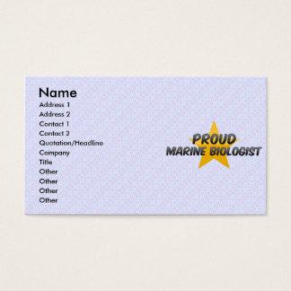 Proud Marine Biologist Business Card