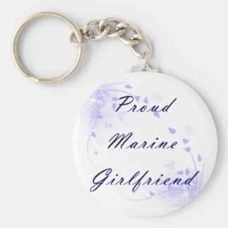 Proud Marine GF Basic Round Button Keychain