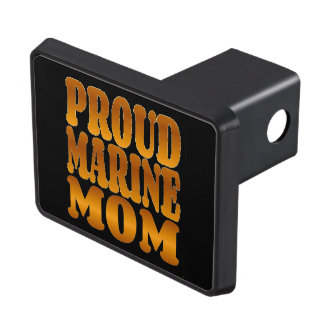 Proud Marine Mom in Gold Trailer Hitch Covers