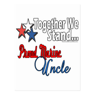 Proud Marine Uncle Postcard