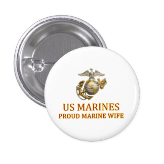 Proud Marine Wife Button