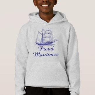 Proud Maritimer nautical sailing ship Nova Scotia Hoodie