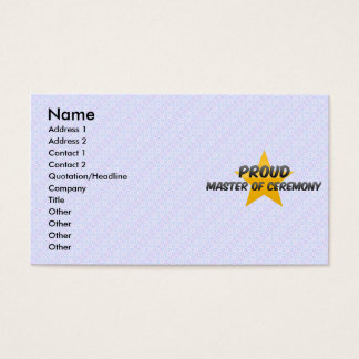 Proud Master Of Ceremony Business Card