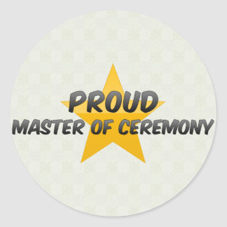 Proud Master Of Ceremony Classic Round Sticker
