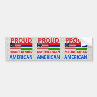 Proud Mauritanian American Car Bumper Sticker