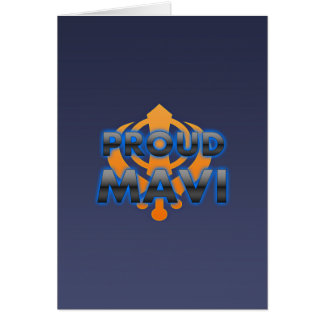 Proud Mavi Mavi pride Greeting Cards