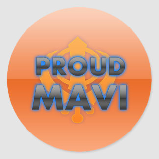 Proud Mavi, Mavi pride Classic Round Sticker
