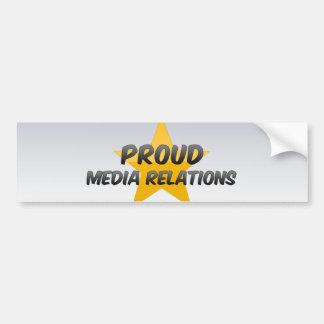 Proud Media Relations Bumper Stickers