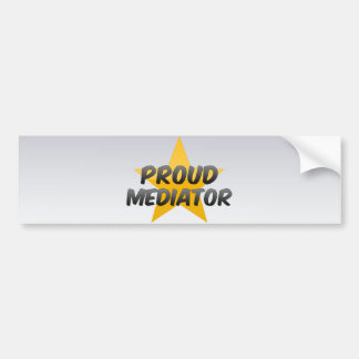 Proud Mediator Car Bumper Sticker