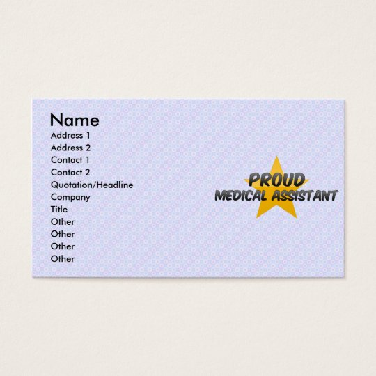 Proud Medical Assistant Business Card