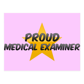 Proud Medical Examiner Postcard