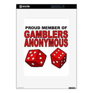 Proud Member of Gamblers Anonymous Decals For iPad