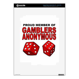 Proud Member of Gamblers Anonymous iPad 3 Decal